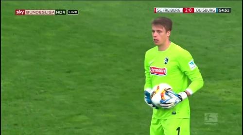 Alexander Schwolow – Freiburg v Duisburg 8