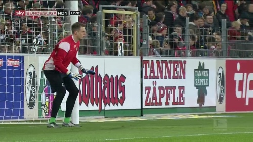 Alexander Schwolow – pre-match show – SC Freiburg v KSC 13