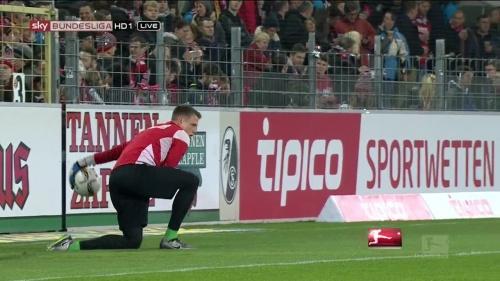 Alexander Schwolow – pre-match show – SC Freiburg v KSC 14