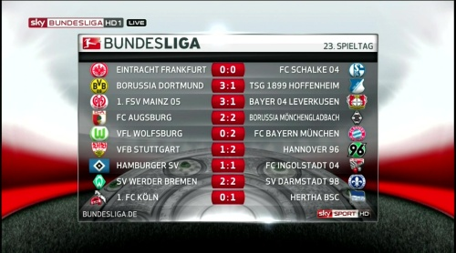 Bundesliga - MD23 results