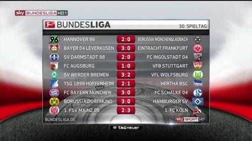 Bundesliga MD30 15-16 results