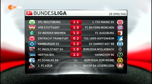 Bundesliga results MD29