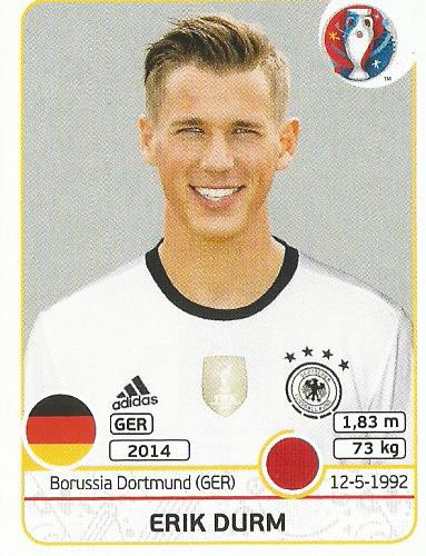 Erik Durm - Germany - Euro 2016 sticker
