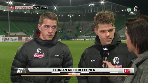 Florian Niederlechner & Nils Petersen post-match interview - Greuther Fürth v SC Freiburg 1
