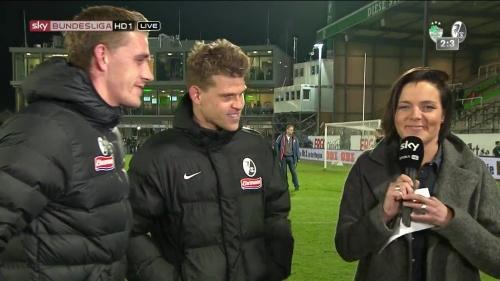 Florian Niederlechner & Nils Petersen post-match interview - Greuther Fürth v SC Freiburg 2