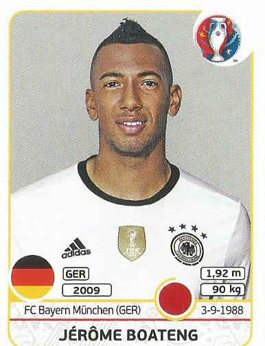 Jerome Boateng - Germany - Euro 2016 sticker