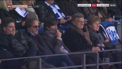 Joachim Löw at Hertha Berlin v FC Bayern München 15-16 1