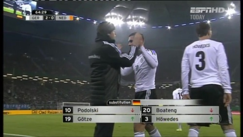Joachim Löw – Germany v Holland (2011) 10