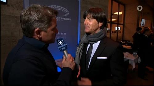 Joachim Löw half-time interview - Hertha BSC v Borussia Dortmund (DFB Pokal) 2015-16 1