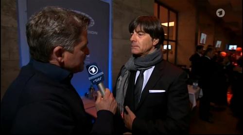 Joachim Löw half-time interview - Hertha BSC v Borussia Dortmund (DFB Pokal) 2015-16 2