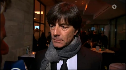 Joachim Löw half-time interview - Hertha BSC v Borussia Dortmund (DFB Pokal) 2015-16 3