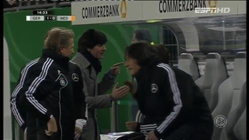 Joachim Löw & Hansi Flick – Germany v Holland (2011) 1