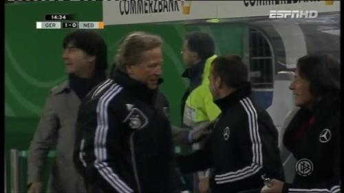Joachim Löw & Hansi Flick – Germany v Holland (2011) 3