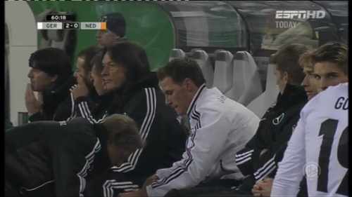 Joachim Löw & Hansi Flick – Germany v Holland (2011) 5