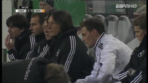 Joachim Löw & Hansi Flick – Germany v Holland (2011) 6