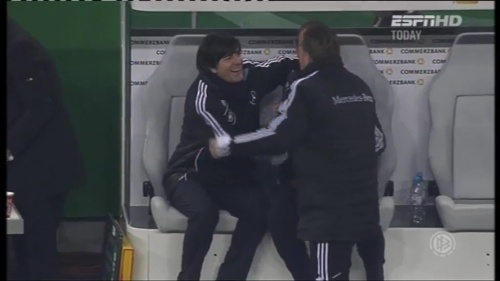 Joachim Löw & Hansi Flick – Germany v Holland (2011) 7