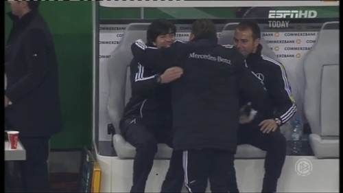 Joachim Löw & Hansi Flick – Germany v Holland (2011) 8