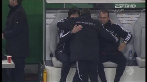 Joachim Löw & Hansi Flick – Germany v Holland (2011) 9