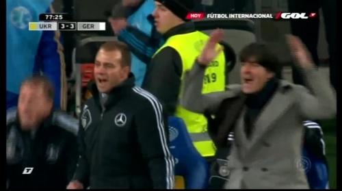 Joachim Löw & Hansi Flick – Ukraine v Germany (2011) 6