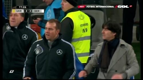 Joachim Löw & Hansi Flick – Ukraine v Germany (2011) 7