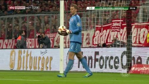 Manuel Neuer - Bayern v Bremen (DFB Pokal) 4