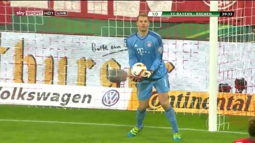 Manuel Neuer - Bayern v Bremen (DFB Pokal) 5