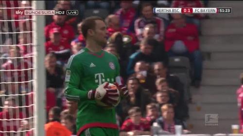 Manuel Neuer – Hertha v Bayern 9