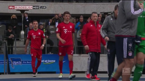 Mario Götze & Thomas Müller – Hertha v Bayern 1