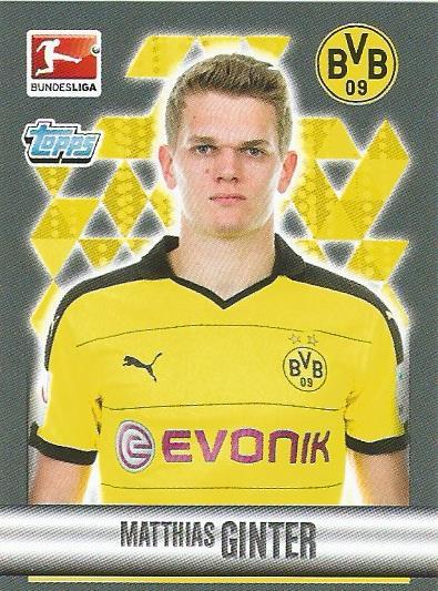 Matthias Ginter - Borussia Dortmund - Bundesliga 2015-16 sticke