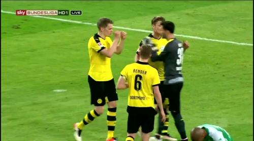 Matthias Ginter & Roman Bürki - Dortmund v Bremen 1