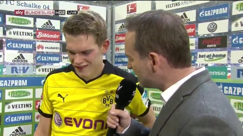Matthias Ginter - Schalke v Dortmund post-match interview 1
