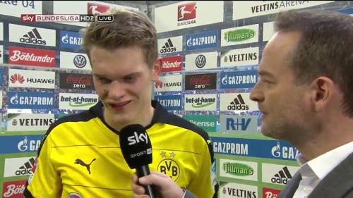 Matthias Ginter - Schalke v Dortmund post-match interview 3