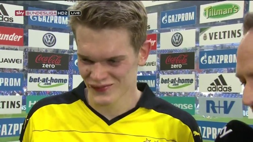 Matthias Ginter - Schalke v Dortmund post-match interview 4