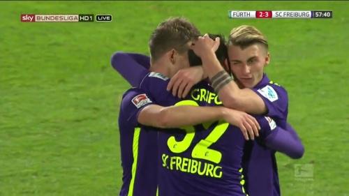 Niederlechner, Grifo & Philipp – Greuther Fürth v SC Freiburg 1
