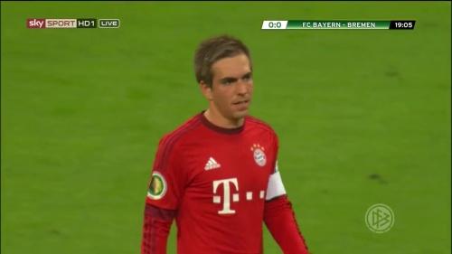 Philipp Lahm - Bayern v Bremen (DFB Pokal) 3
