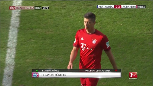 Robert Lewandowksi – Hertha v Bayern 4