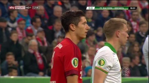 Robert Lewandowski - Bayern v Bremen (DFB Pokal) 1