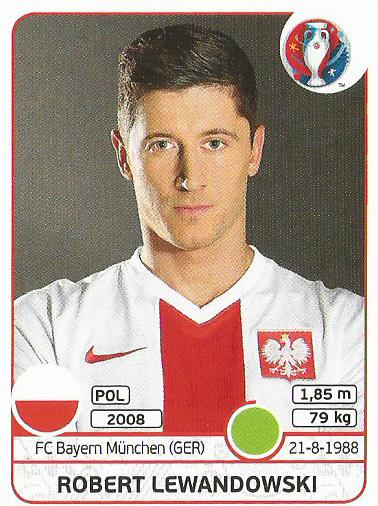 Robert Lewandowski - Poland - Euro 2016 sticker