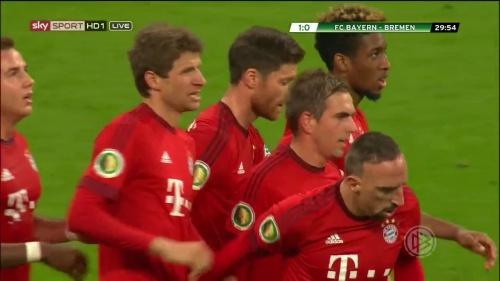 Thomas Müller - Bayern v Bremen (DFB Pokal) 1