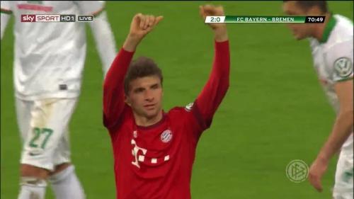 Thomas Müller - Bayern v Bremen (DFB Pokal) 2