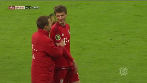 Thomas Müller - Bayern v Bremen (DFB Pokal) 3