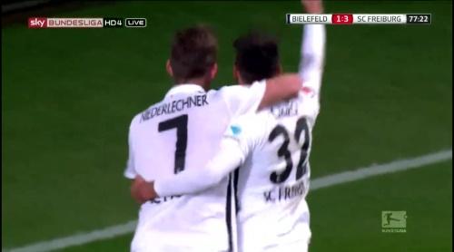 Vincenzo Grifo & Florian Niederlechner – Arminia Bielefeld v SC Freiburg 3