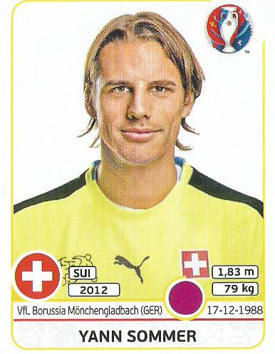 Yann Sommer - Switzerland - Euro 2016 sticker