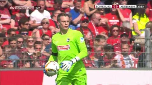 Alexander Schwolow – SC Freiburg v Heidenheim 3