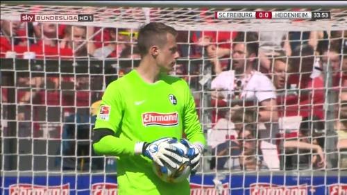 Alexander Schwolow – SC Freiburg v Heidenheim 4