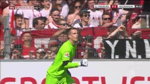 Alexander Schwolow – SC Freiburg v Heidenheim 5