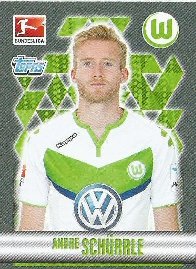 Andre Schürrle – VfL Wolfsburg – Bundesliga 15-16 sticker