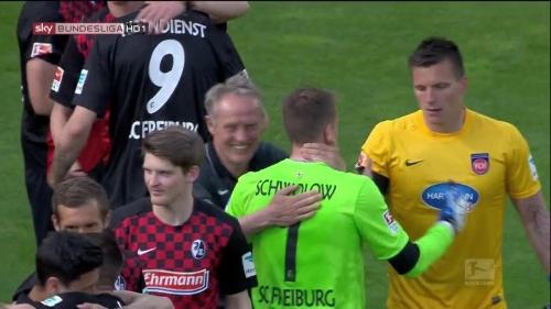 Christian Streich & Alexander Schwolow – SC Freiburg v Heidenheim 1