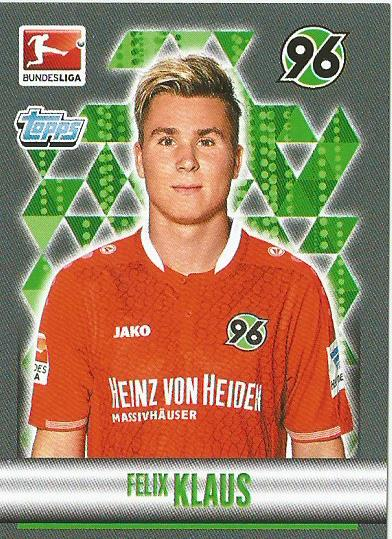 Felix Klaus - H96 Bundesliga 15-16 sticker