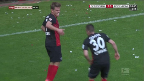 Florian Niederlechner & Christian Günter – SC Freiburg v Heidenheim 1